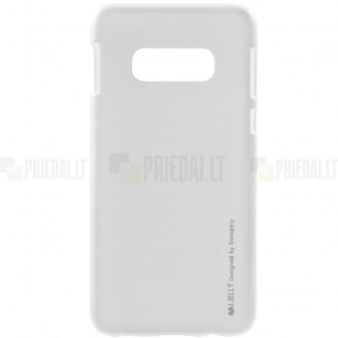 Samsung Galaxy S10e (G970) Mercury sidabrinis kieto silikono tpu dėklas - nugarėlė