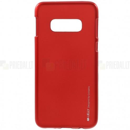 Samsung Galaxy S10e (G970) Mercury raudonas kieto silikono tpu dėklas - nugarėlė