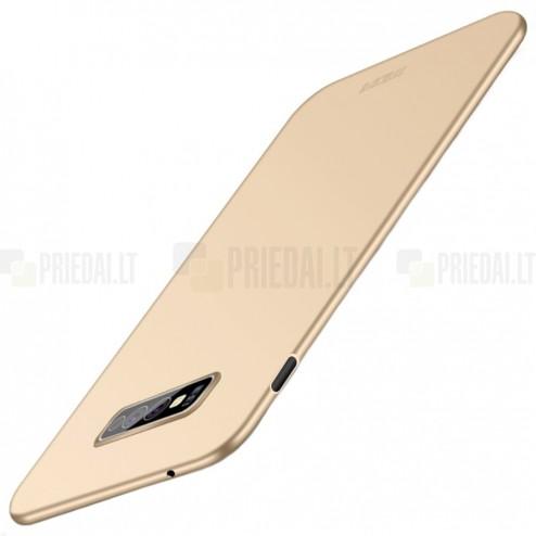 """""""Mofi"""" Shield Samsung Galaxy S10e (G970) auksinis plastikinis dėklas"""