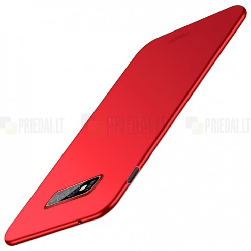 """""""Mofi"""" Shield Samsung Galaxy S10e (G970) raudonas plastikinis dėklas"""
