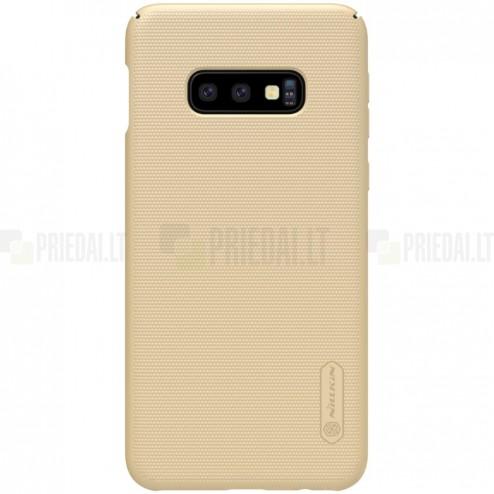 Samsung Galaxy S10e (G970) Nillkin Frosted Shield auksinis plastikinis dėklas