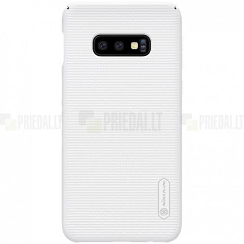 Samsung Galaxy S10e (G970) Nillkin Frosted Shield baltas plastikinis dėklas