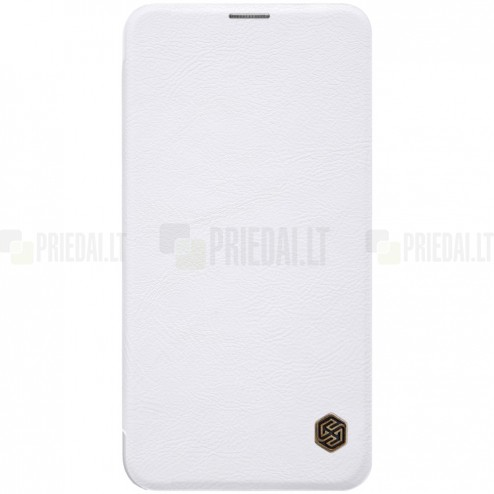 """Prabangus """"Nillkin"""" Qin serijos baltas odinis atverčiamas Samsung Galaxy S10e (G970)"""