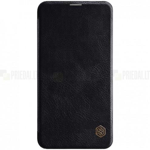 """Prabangus """"Nillkin"""" Qin serijos juodas odinis atverčiamas Samsung Galaxy S10e (G970)"""