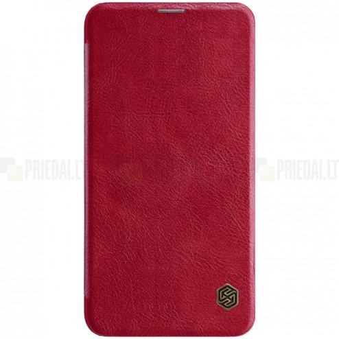 """Prabangus """"Nillkin"""" Qin serijos raudonas odinis atverčiamas Samsung Galaxy S10e (G970)"""