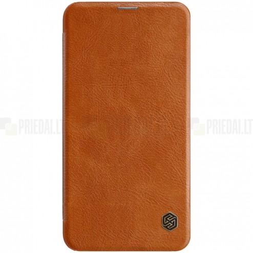 """Prabangus """"Nillkin"""" Qin serijos rudas odinis atverčiamas Samsung Galaxy S10e (G970)"""