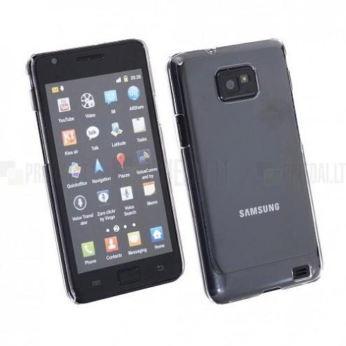 Samsung Galaxy S2 i9100 plastikinis skaidrus dėklas (dėkliukas, nugarėlė)
