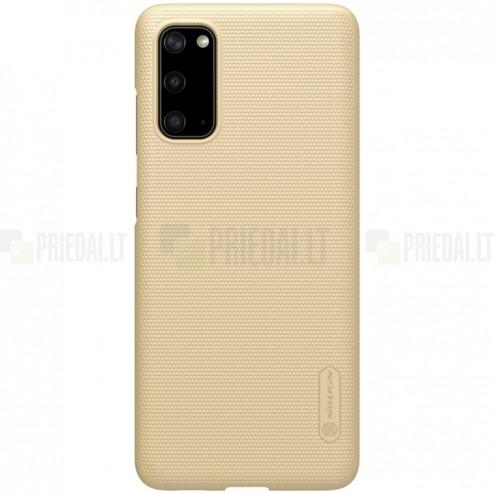 Samsung Galaxy S20 Nillkin Frosted Shield auksinis plastikinis dėklas, nugarėlė