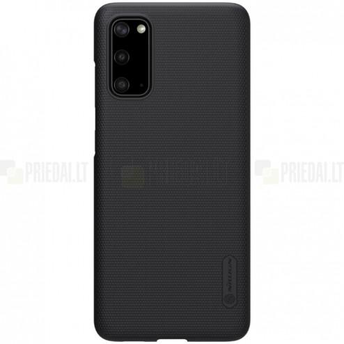 Samsung Galaxy S20 Nillkin Frosted Shield juodas plastikinis dėklas, nugarėlė