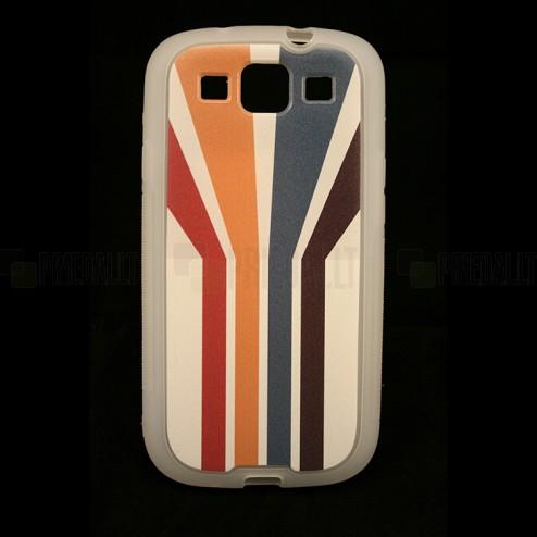 """""""Bullet"""" Samsung Galaxy S3 i9300 kieto silikono TPU dėklas - Striped (Dryžuotas)"""