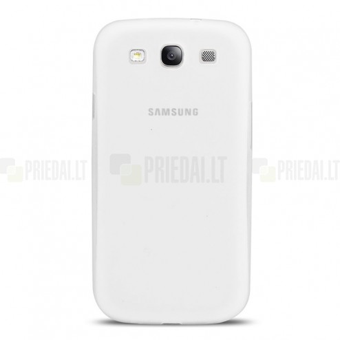 Ploniausias pasaulyje baltas Samsung Galaxy S3 i9300 dėklas (nugarėlė)