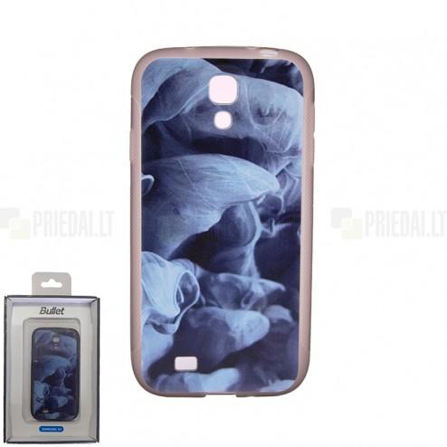 """""""Bullet"""" Samsung Galaxy S4 i9505, i9500 kieto silikono TPU dėklas - Blue Smoke (mėlynas dūmas)"""