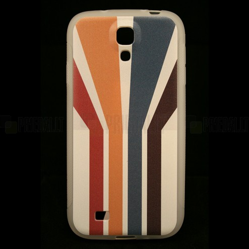 """Bullet"" Samsung Galaxy S4 i9505, i9500 kieto silikono TPU dėklas - Striped (Dryžuotas)"