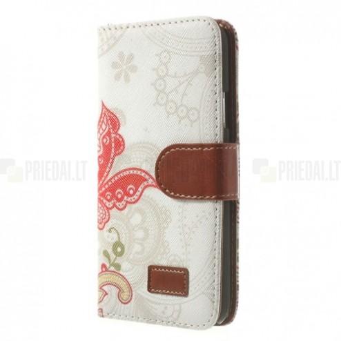 """""""Spring"""" serijos Samsung Galaxy S5 (S5 Neo) baltas odinis atverčiamas dėklas"""