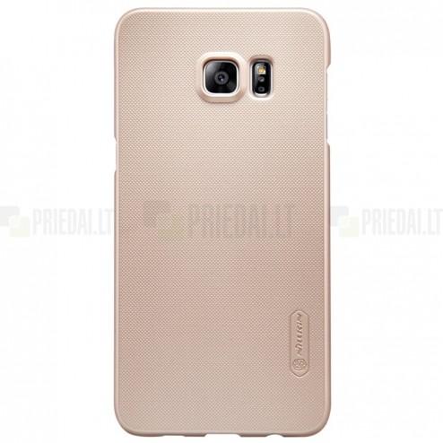 Samsung Galaxy S6 Edge+ Plus (G928) Nillkin Frosted Shield auksinis plastikinis dėklas + apsauginė ekrano plėvelė