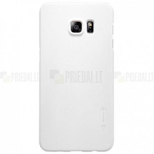 Samsung Galaxy S6 Edge+ Plus (G928) Nillkin Frosted Shield baltas plastikinis dėklas + apsauginė ekrano plėvelė