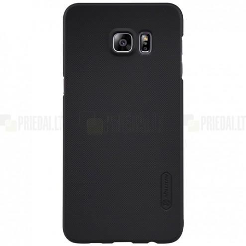 Samsung Galaxy S6 Edge+ Plus (G928) Nillkin Frosted Shield juodas plastikinis dėklas + apsauginė ekrano plėvelė