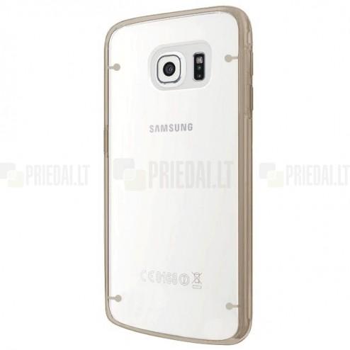 Samsung Galaxy S6 Edge+ Plus (G928) Plastikinis skaidrus dėklas, auksinis