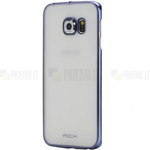 Samsung Galaxy S6 (G920) Rock Neon plastikinis skaidrus permatomas mėlynas dėklas