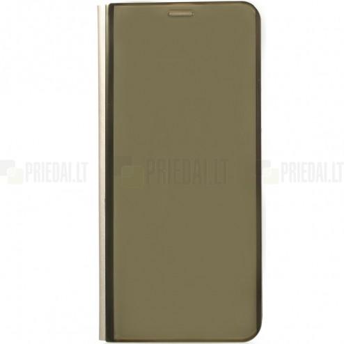 Samsung Galaxy S9 (G960) plastikinis atverčiamas auksinis dėklas