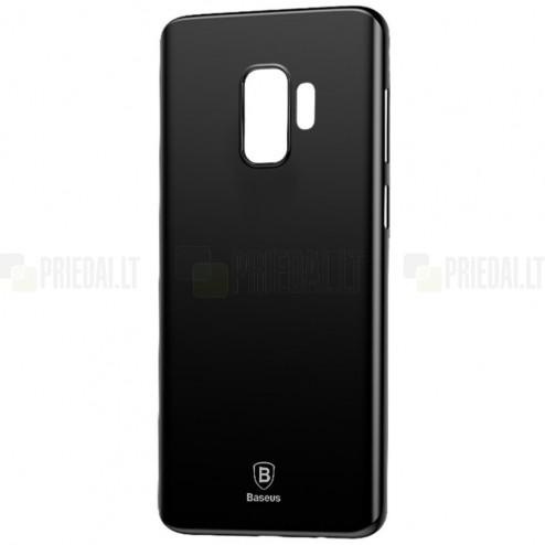 """""""Baseus"""" Wing plastikinis Samsung Galaxy S9 (G960) juodas dėklas - nugarėlė"""