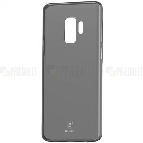 """""""Baseus"""" Wing plastikinis Samsung Galaxy S9 (G960) pilkas dėklas - nugarėlė"""