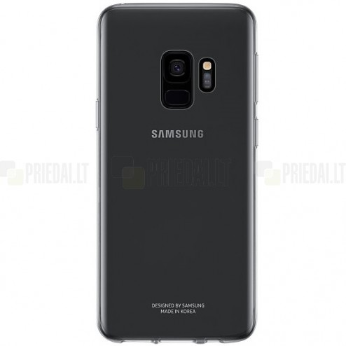 Samsung Galaxy S9 (G960) kieto silikono TPU pilkas dėklas - nugarėlė