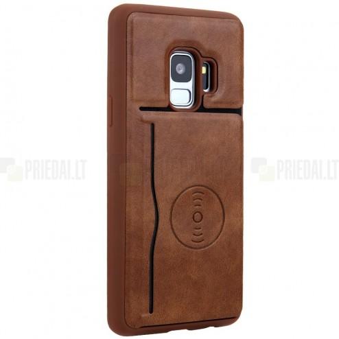 """""""Kickstand"""" Card Holder Samsung Galaxy S9 (G960) rudas odinis dėklas"""
