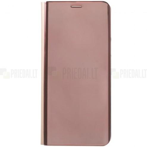 Samsung Galaxy S9 (G960) plastikinis atverčiamas rožinis dėklas