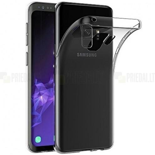 Samsung Galaxy S9 (G960) skaidrus (permatomas) kieto silikono TPU ploniausias pasaulyje bespalvis dėklas