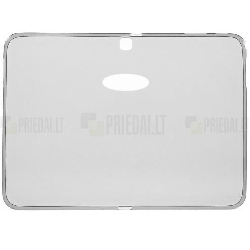 Samsung Galaxy Tab 4 10.1 (T535, T530) skaidrus (permatomas) kieto silikono TPU ploniausias pasaulyje pilkas dėklas