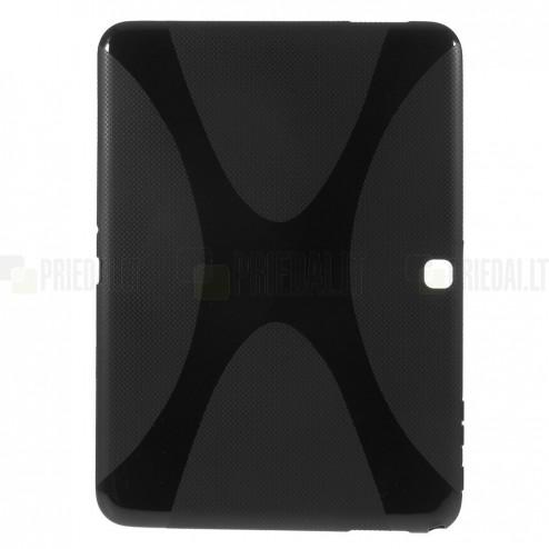 Samsung Galaxy Tab 4 10.1 T535 (T530) kieto silikono TPU juodas dėklas - nugarėlė