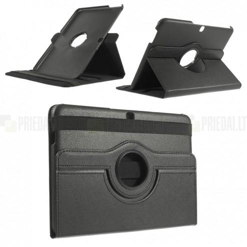 Samsung Galaxy Tab 4 10.1 T535 atverčiamas juodas dėklas, sukiojamas 360°