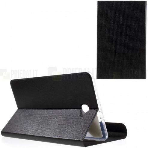 Samsung Galaxy Tab A 10,1 2016 (T580, T585) Smart Case atverčiamas juodas odinis dėklas - knygutė