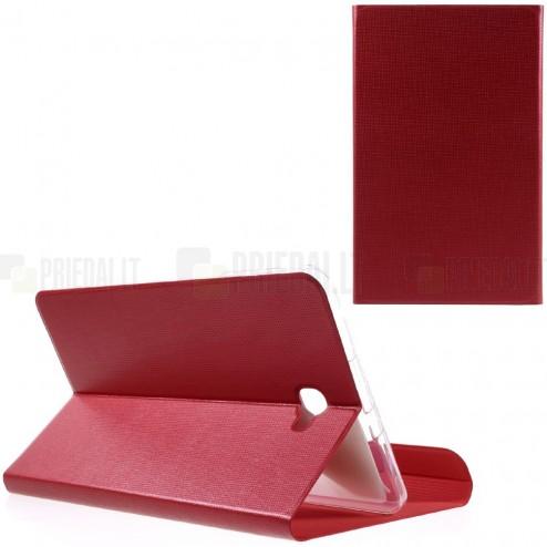 Samsung Galaxy Tab A 10,1 2016 (T580, T585) Smart Case atverčiamas raudonas odinis dėklas - knygutė