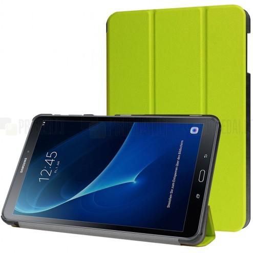 Samsung Galaxy Tab A 10.1 2016 (T580, T585) atverčiamas žalias odinis dėklas - knygutė