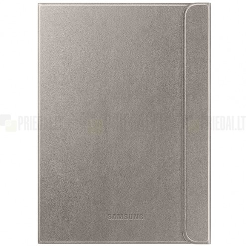 Originalus Samsung Galaxy Tab S2 9.7 (T815, T810) Book Cover atverčiamas bronzinis odinis dėklas