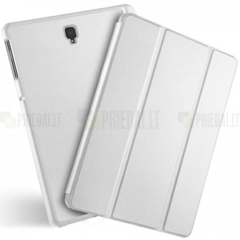 Samsung Galaxy Tab S4 10.5 (T835, T830) atverčiamas baltas odinis dėklas - knygutė (sulankstomas)