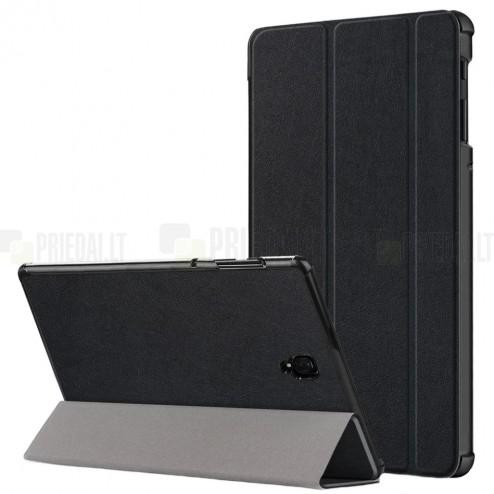 Samsung Galaxy Tab S4 10.5 (T835, T830) atverčiamas juodas odinis dėklas - knygutė (sulankstomas)