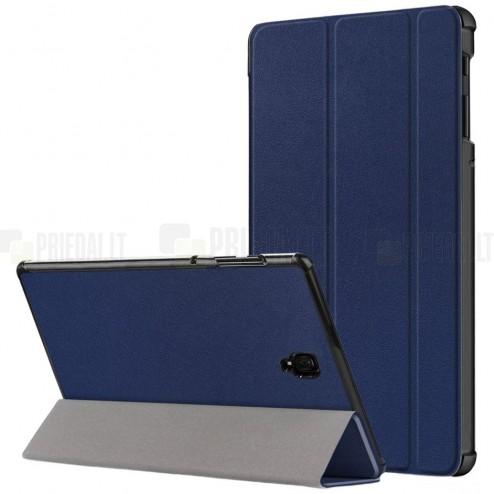 Samsung Galaxy Tab S4 10.5 (T835, T830) atverčiamas mėlynas odinis dėklas - knygutė (sulankstomas)
