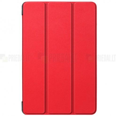 Samsung Galaxy Tab S5e (T720, T725) atverčiamas raudonas odinis dėklas - knygutė (sulankstomas)