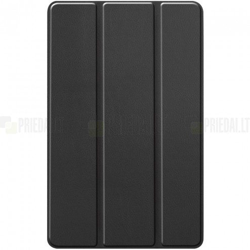 """Samsung Galaxy Tab S6 Lite 10.4"""" atverčiamas juodas odinis dėklas - knygutė"""