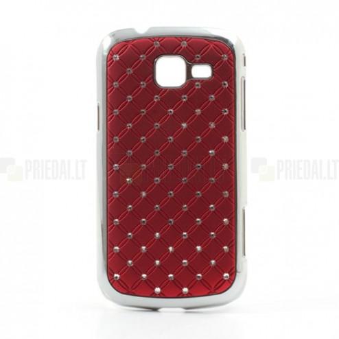 Samsung Galaxy Trend II S7570 elegantiškas raudonas dėklas su blizgučiais