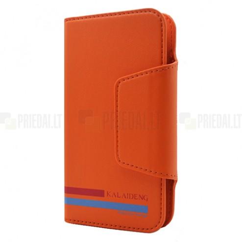 """""""Kalaideng"""" Versal universalus oranžinis odinis telefono dėklas telefonas iki 4,2"""" colių"""