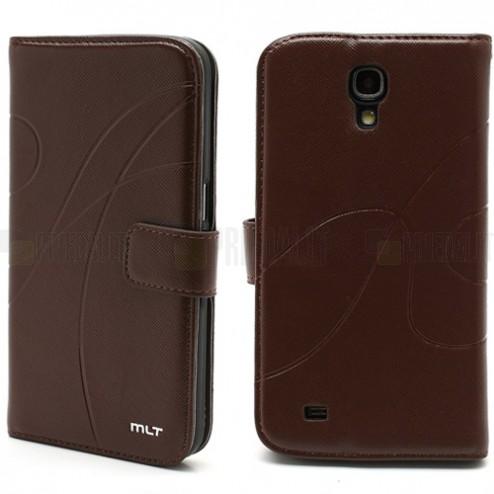 """""""Meilate"""" atverčiamas odinis rudas Samsung Galaxy Mega 6,3 dėklas"""
