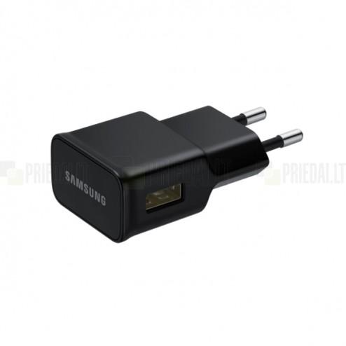 """Originalus """"Samsung"""" juodaskelioninis (sieninis) įkroviklis (Europinis modelis, 2 Amp)"""