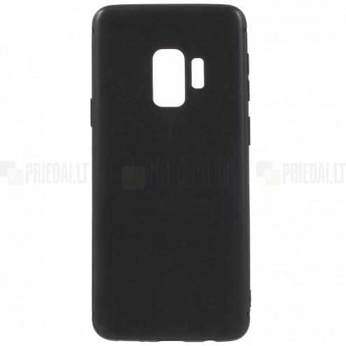 Samsung Galaxy S9 (G960) kieto silikono TPU juodas dėklas - nugarėlė