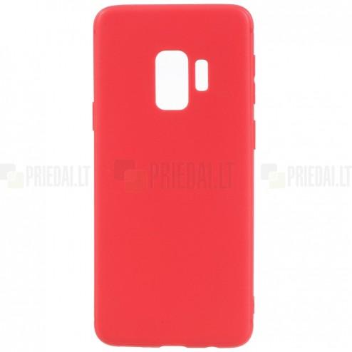 Samsung Galaxy S9 (G960) kieto silikono TPU raudonas dėklas - nugarėlė