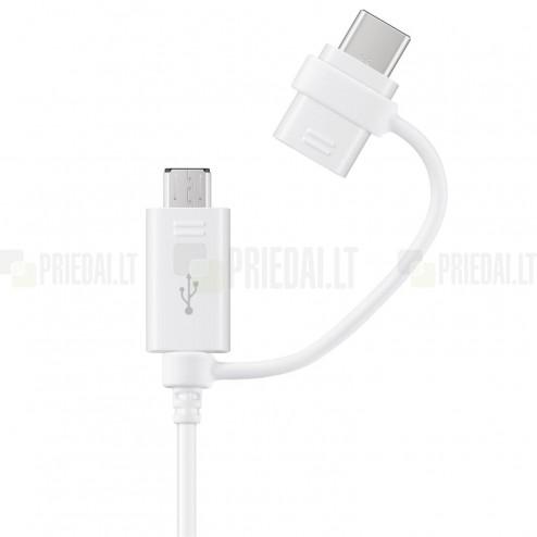 """""""Samsung"""" Combo micro USB + Type-C baltas laidas 1 m. (originalus) (EP-DG930)"""