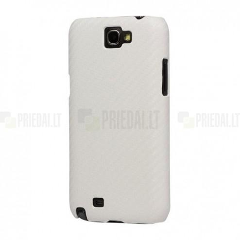 Baltas karboninis Samsung Galaxy Note 2 N7100 dėklas (dėkliukas, nugarėlė)